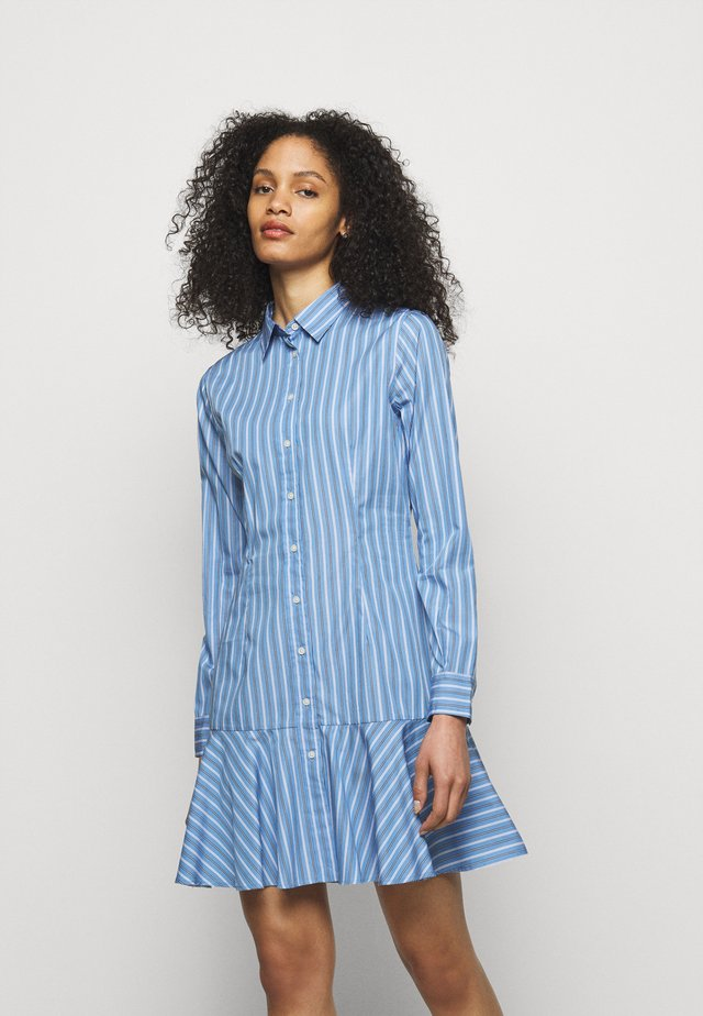 DRESS - Shirt dress - blue/white