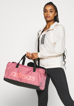 ESSENTIALS LINEAR SPORT DUFFEL BAG UNISEX - Sports bag - tramar/black/signal pink