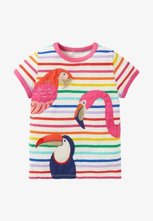 Print T-shirt - bunt, tropenvögel