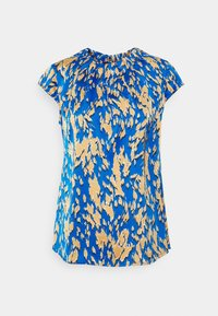 comma - KURZARM - T-shirt med print - blue - 0