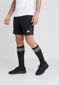 adidas Performance - CORE ELEVEN PRIMEGREEN FOOTBALL 1/4 SHORTS - Pantalón corto de deporte - black/white - 0