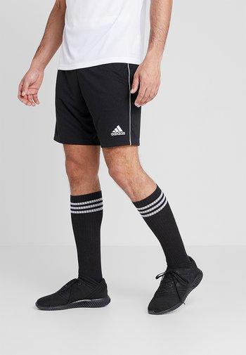 CORE ELEVEN PRIMEGREEN FOOTBALL 1/4 SHORTS - Pantaloncini sportivi - black/white