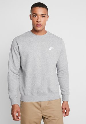 CLUB - Mikina - grey heather/white