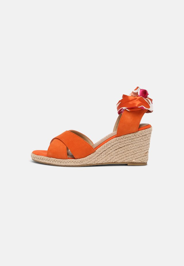 Wedge sandals - sunset