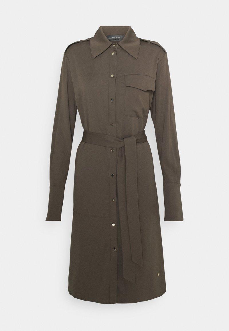 Mos Mosh - RORY LIPA DRESS - Sukienka koszulowa - chocolate chip