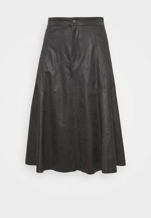 OCTARIA - A-line skirt - black