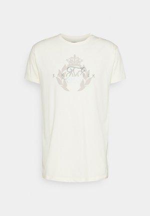 FADE RHINE STONE BOX TEE - Print T-shirt - off-white