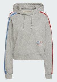 adidas Originals - ADICOLOR ORIGINALS LOOSE SWEATSHIRT HOODIE - Luvtröja - grey - 6