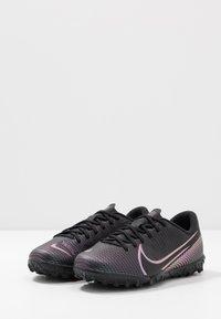 Nike Performance - MERCURIAL JR VAPOR 13 ACADEMY TF UNISEX - Astro turf trainers - black - 3
