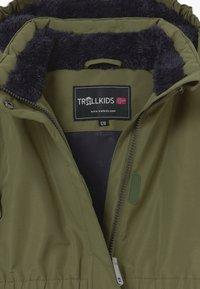 TrollKids - GIRLS ALESUND COAT - Down coat - khaki green - 3