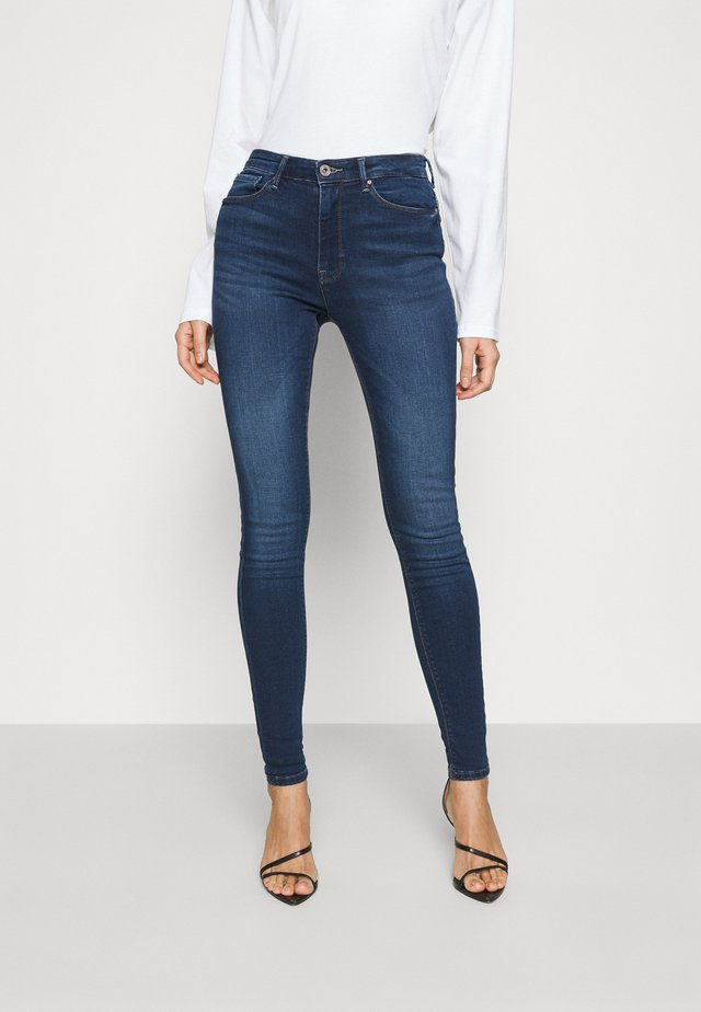 ONLPAOLA LIFE - Vaqueros pitillo - dark blue denim