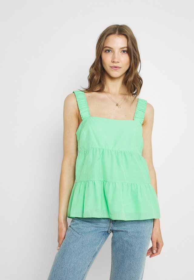 FLORA TIERED TANK - Blouse - bright mint