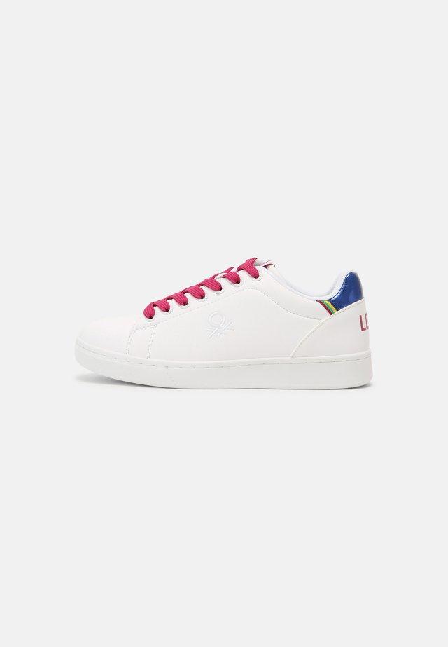 PENN CRACK - Sneakers laag - white/fucsia