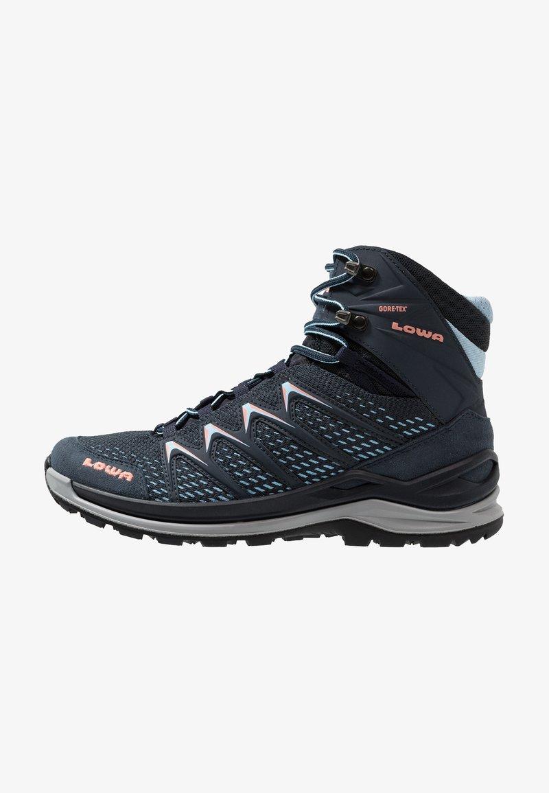 Lowa - INNOX PRO GTX MID - Hiking shoes - stahlblau/lachs