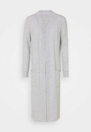 NMCITY LONG CARDIGAN - Cardigan - light grey melange