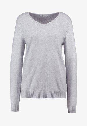 VIRIL V-NECK L/S  - Jersey de punto - light grey melange