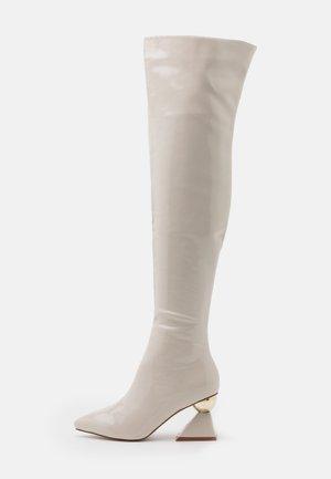 SPIRAL - Overknee laarzen - offwhite