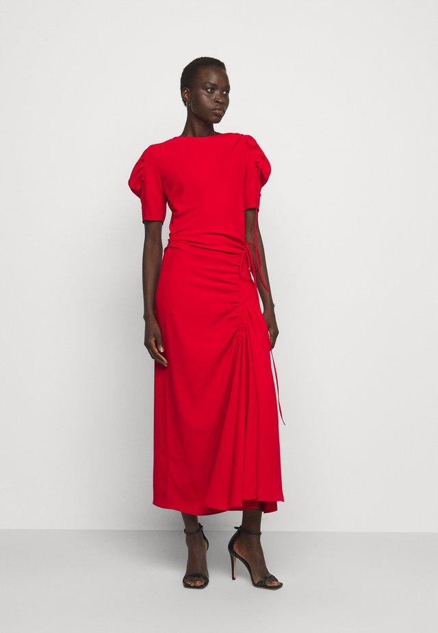 DRAPED DRESS - Maxi-jurk - rosso