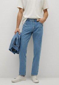 Mango - HILLARY-I - Jeans straight leg - blu medio - 0