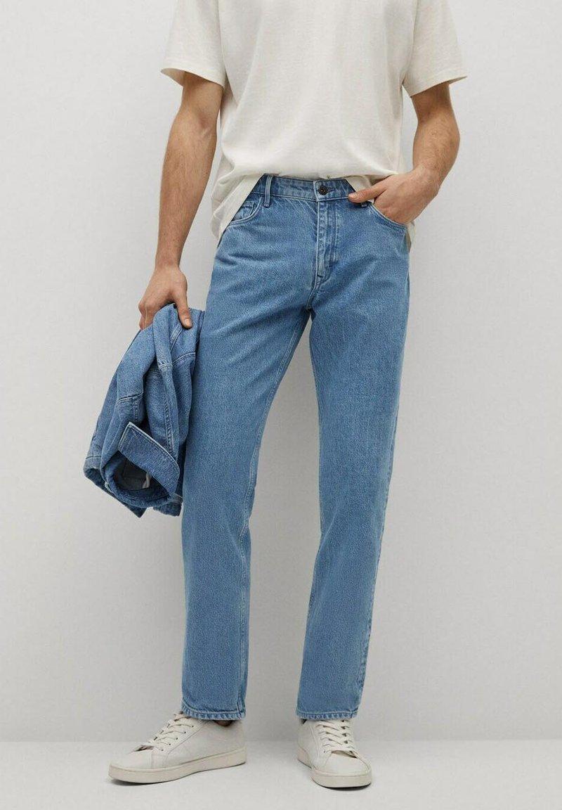 Mango - HILLARY-I - Jeans straight leg - blu medio