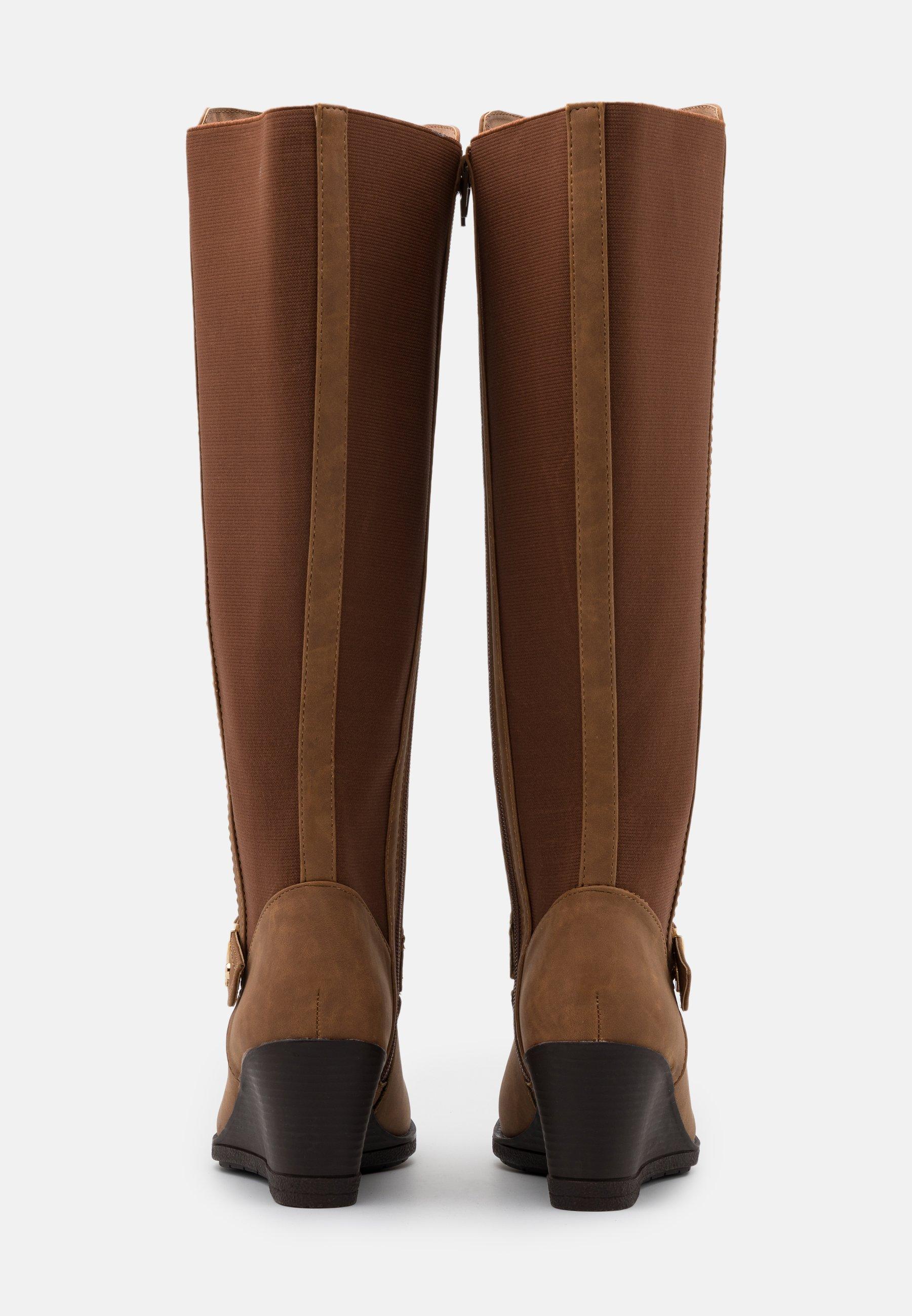 Simply Be WIDE FIT CICELY Keilstiefel brown/braun
