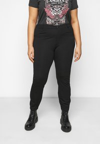 Even&Odd Curvy - 5 pockets PUNTO trousers - Trousers - black - 0
