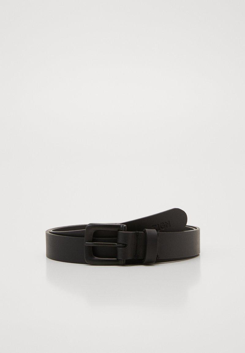 Zign - UNISEX LEATHER - Pásek - black
