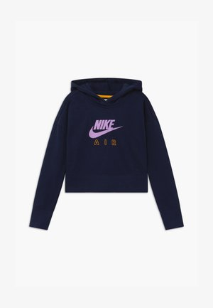 AIR CROP HOODIE - Mikina s kapucí - obsidian/university gold/violet star