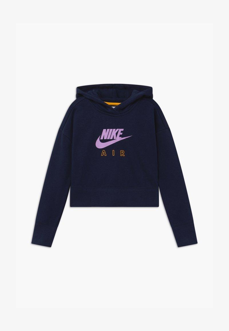 Nike Sportswear - AIR CROP HOODIE - Hoodie - obsidian/university gold/violet star