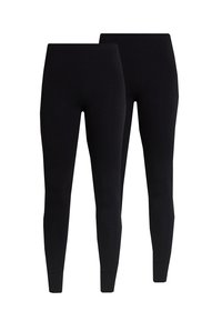 Monki - KIM SIMPLE 2 PACK - Leggings - black - 3