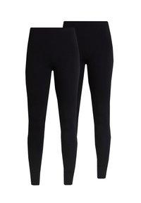 KIM SIMPLE 2 PACK - Leggings - Trousers - black
