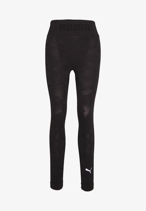 EVOKNIT SEAMLESS LEGGINGS - Punčochy - black