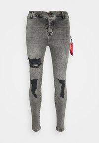 SIKSILK - DISTRESSED FLIGHT - Jeans Skinny Fit - snow wash - 3
