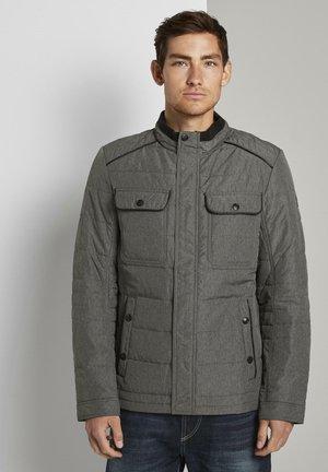 Light jacket - blue woven melange