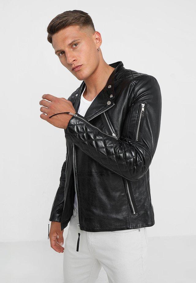 CRUISER - Kožená bunda - black