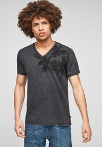 Q/S designed by - ÉTROIT - T-Shirt print - dark grey - 0