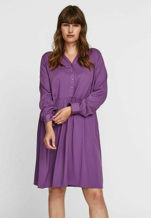 V-AUSSCHNITT - Shirt dress - concord grape