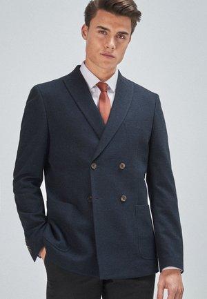 SLIM FIT  - Blazer jacket - mottled dark blue