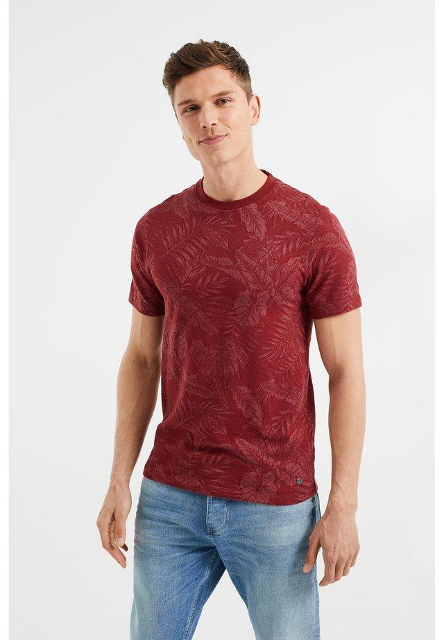 T-shirt print - burgundy red