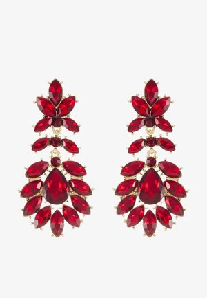 PCKARLO EARRINGS - Orecchini - burgundy