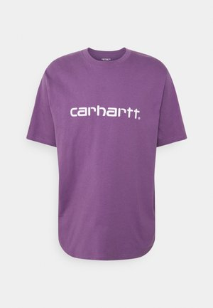 SCRIPT  - Print T-shirt - aster/white
