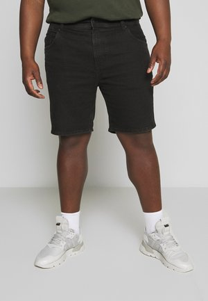 STRAIGHT PLUS - Denim shorts - pitch black