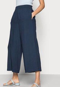 Esprit - FLOATY PANTS - Trousers - navy - 3