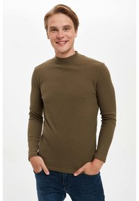 DeFacto - T-shirt à manches longues - khaki - 0