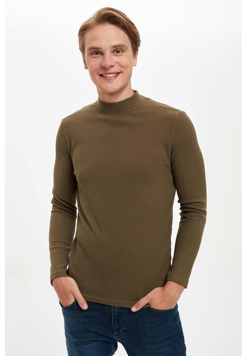 DeFacto - T-shirt à manches longues - khaki