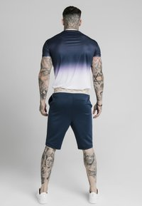 SIKSILK - T-shirt con stampa - navy  white - 2