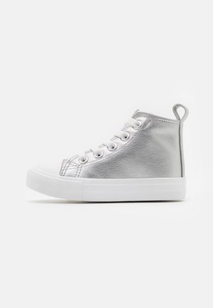 CLASSIC LACE UP  - High-top trainers - silver metallic