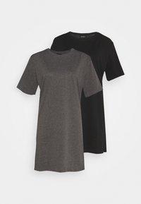 black/mottled dark grey