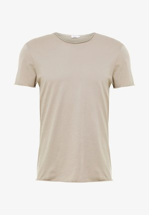 ROLL NECK TEE - Basic T-shirt - oyster