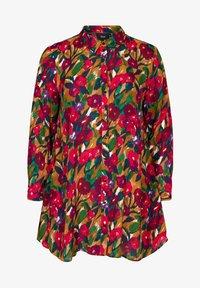 Zizzi - Button-down blouse - army - 4